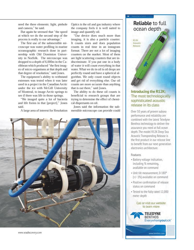 Marine Technology Magazine, page 69,  Mar 2014 oil drops