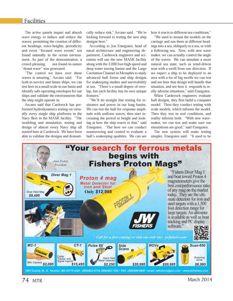 Marine Technology Magazine, page 74,  Mar 2014 wave energy