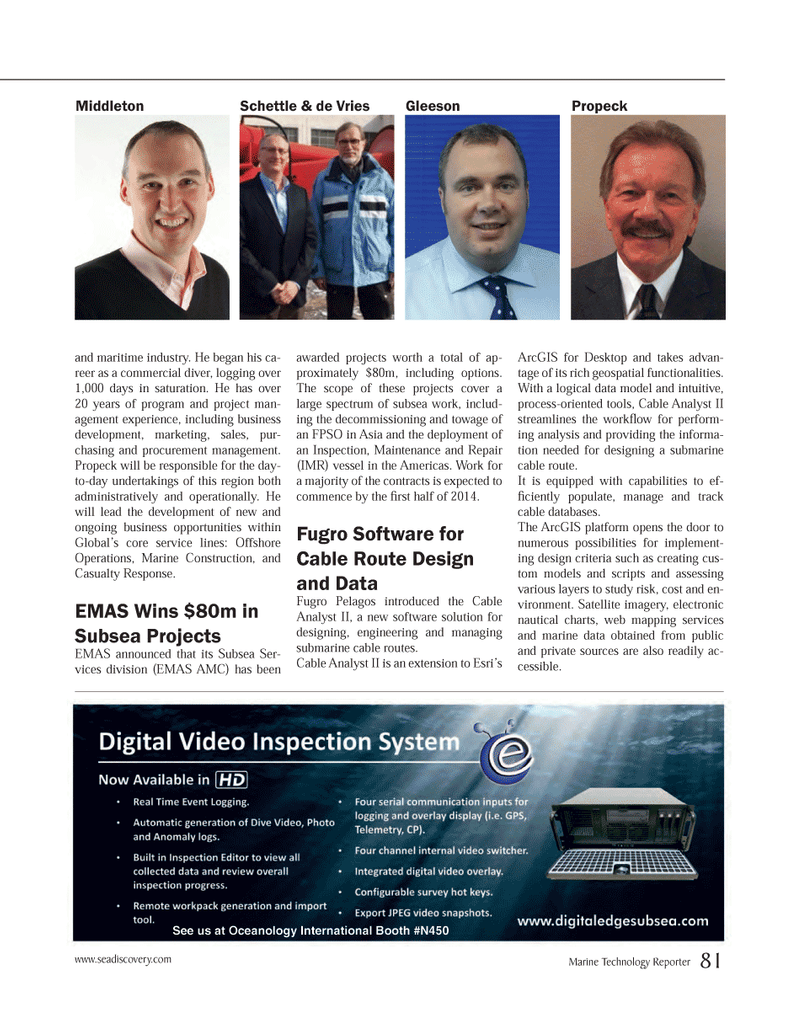 Marine Technology Magazine, page 81,  Mar 2014 web mapping services