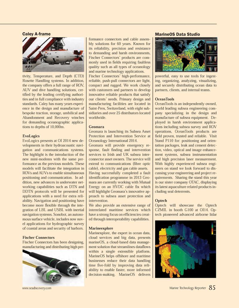 Marine Technology Magazine, page 85,  Mar 2014