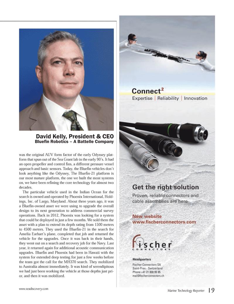 Marine Technology Magazine, page 19,  May 2014 Hawaii