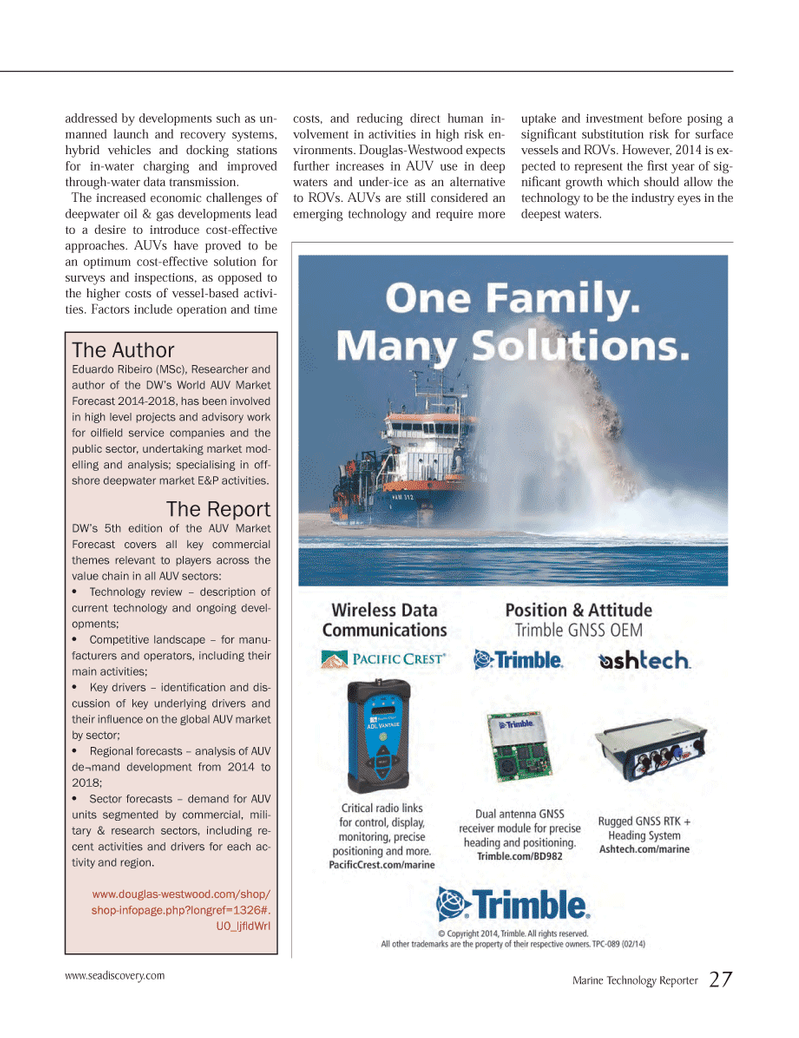 Marine Technology Magazine, page 27,  May 2014 oil