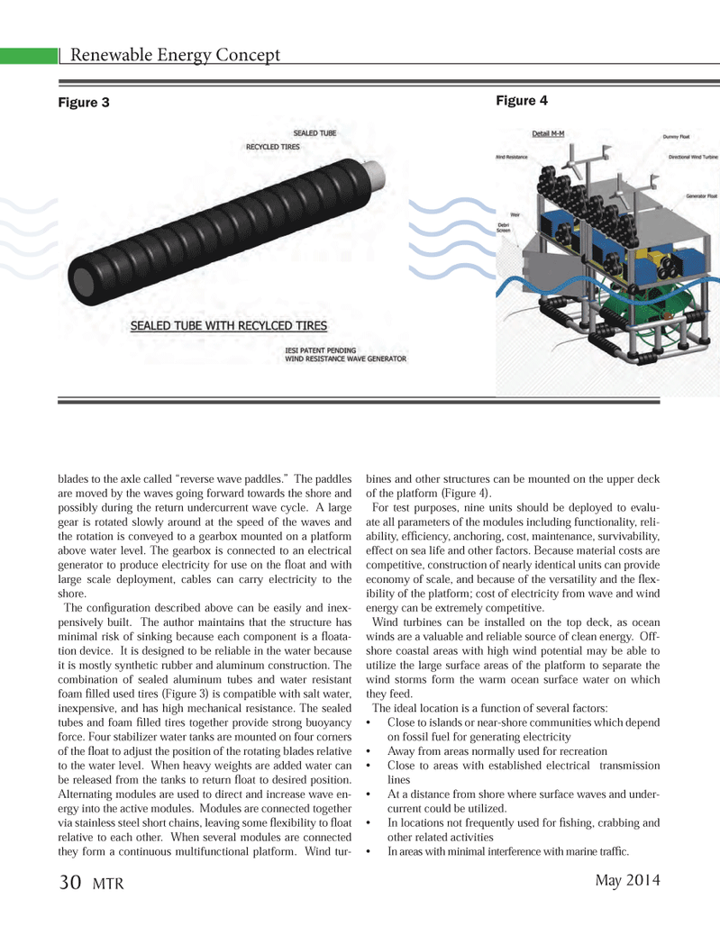 Marine Technology Magazine, page 30,  May 2014 clean energy