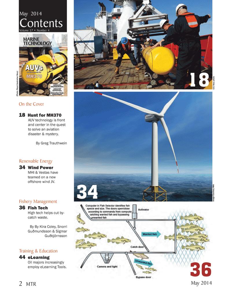 Marine Technology Magazine, page 2,  May 2014 Royal Australian Navy