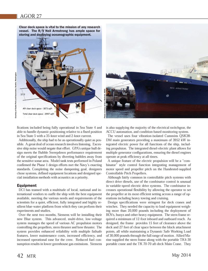 Marine Technology Magazine, page 42,  May 2014 Washington Photo