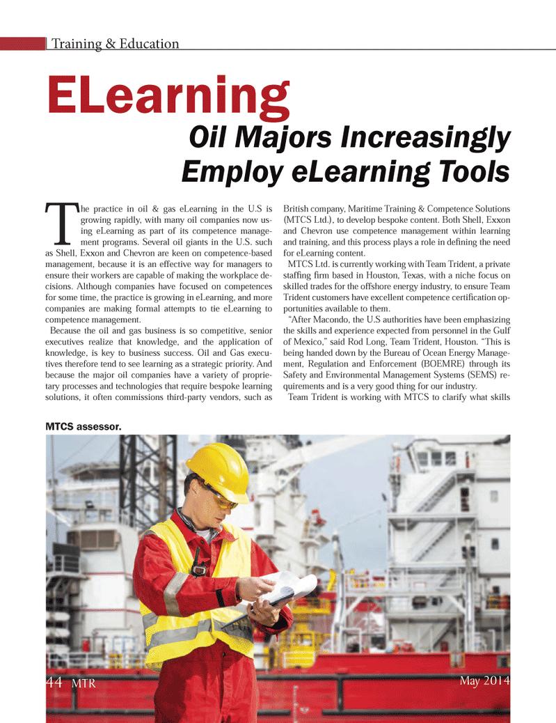 Marine Technology Magazine, page 44,  May 2014 Rod Long