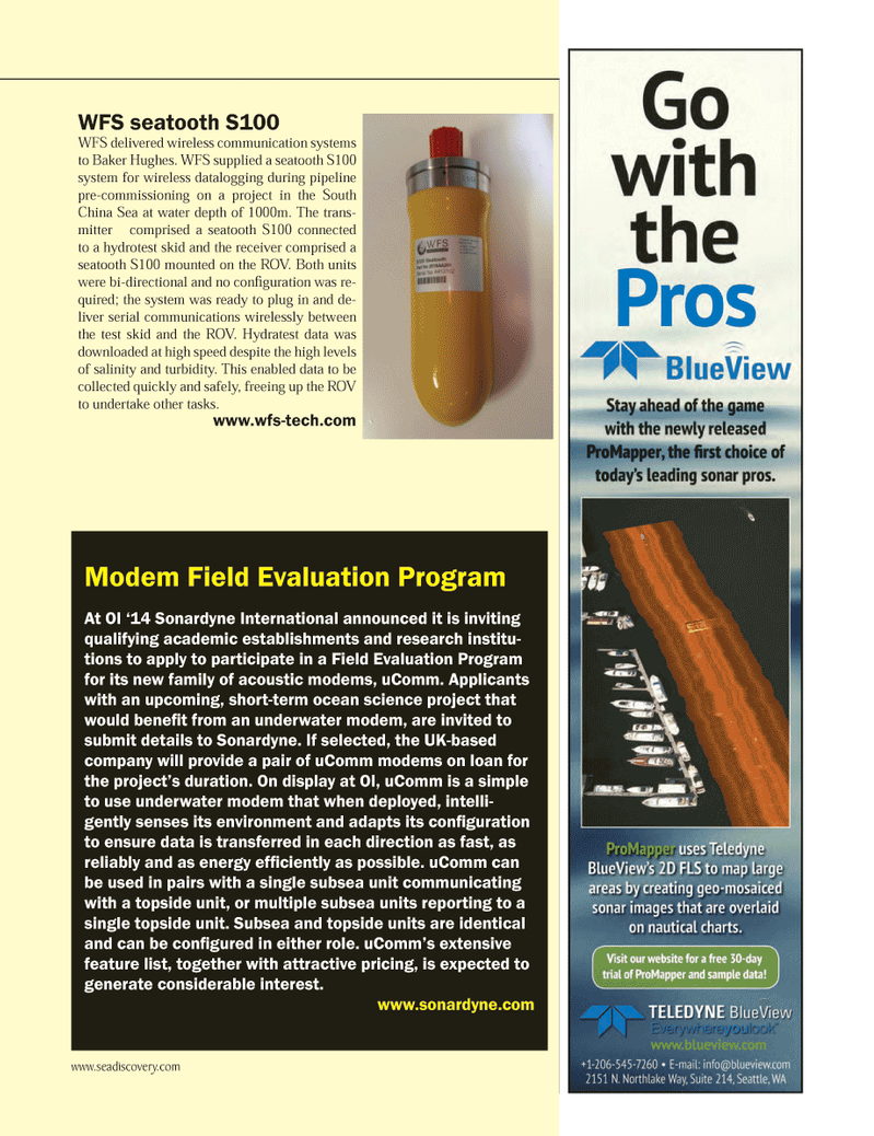Marine Technology Magazine, page 47,  May 2014 liver serial communications