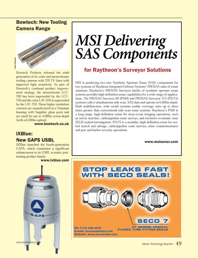 Marine Technology Magazine, page 49,  May 2014