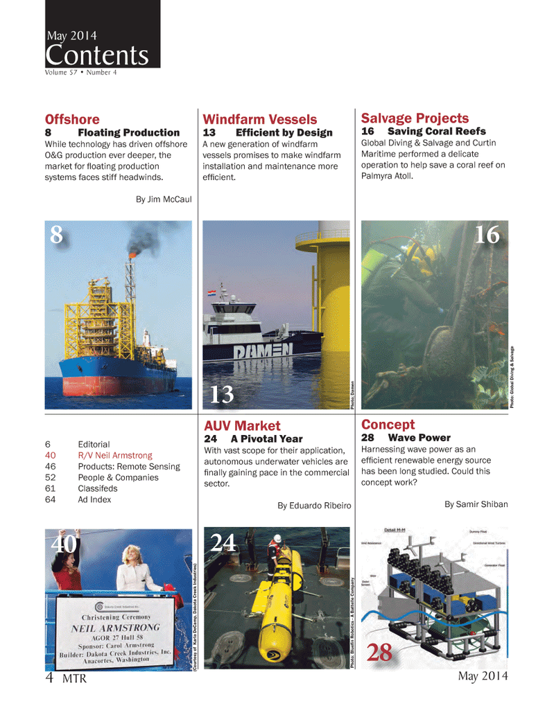 Marine Technology Magazine, page 4,  May 2014 Eduardo Ribeiro