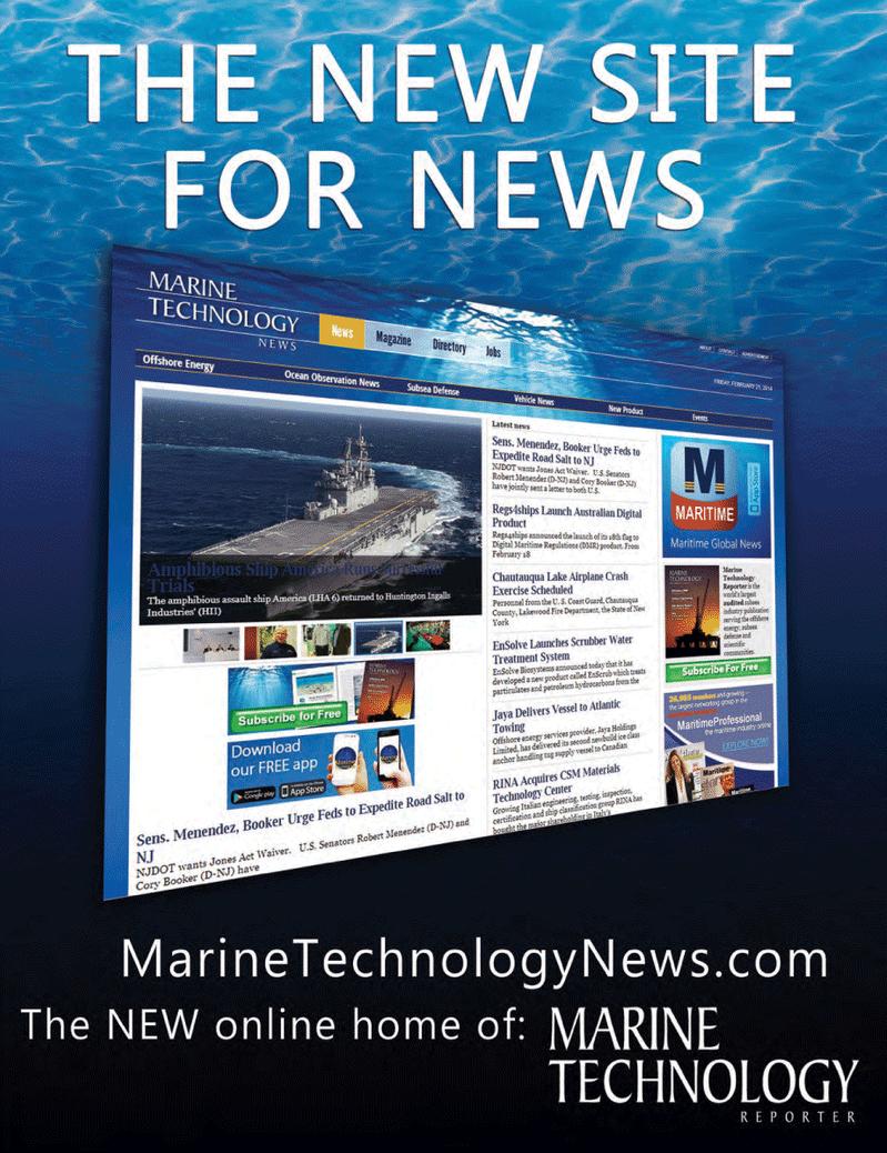 Marine Technology Magazine, page 60,  May 2014