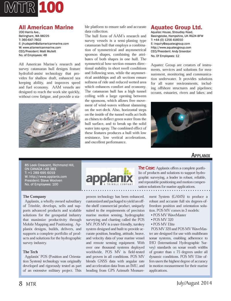 Marine Technology Magazine, page 8,  Jul 2014