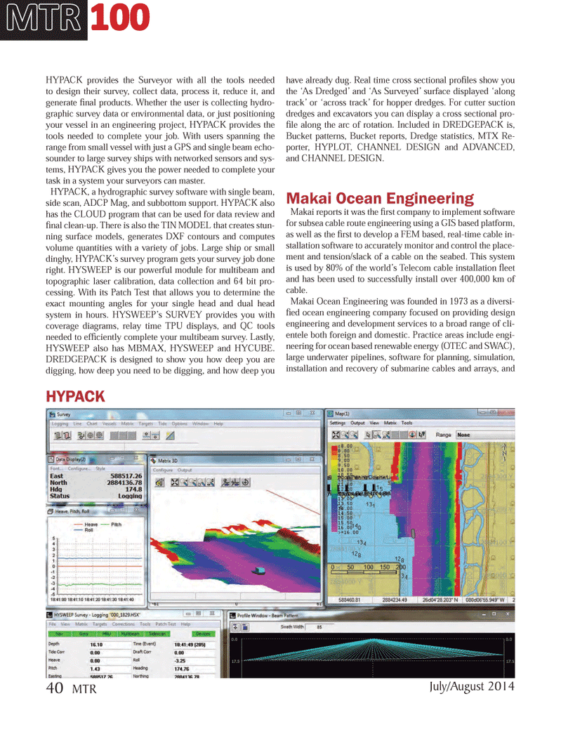 Marine Technology Magazine, page 40,  Jul 2014