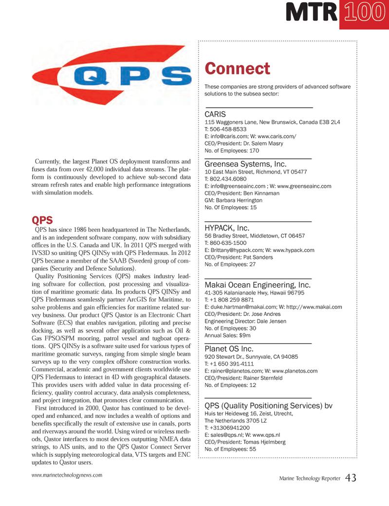 Marine Technology Magazine, page 43,  Jul 2014