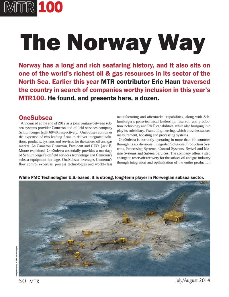 Marine Technology Magazine, page 50,  Jul 2014