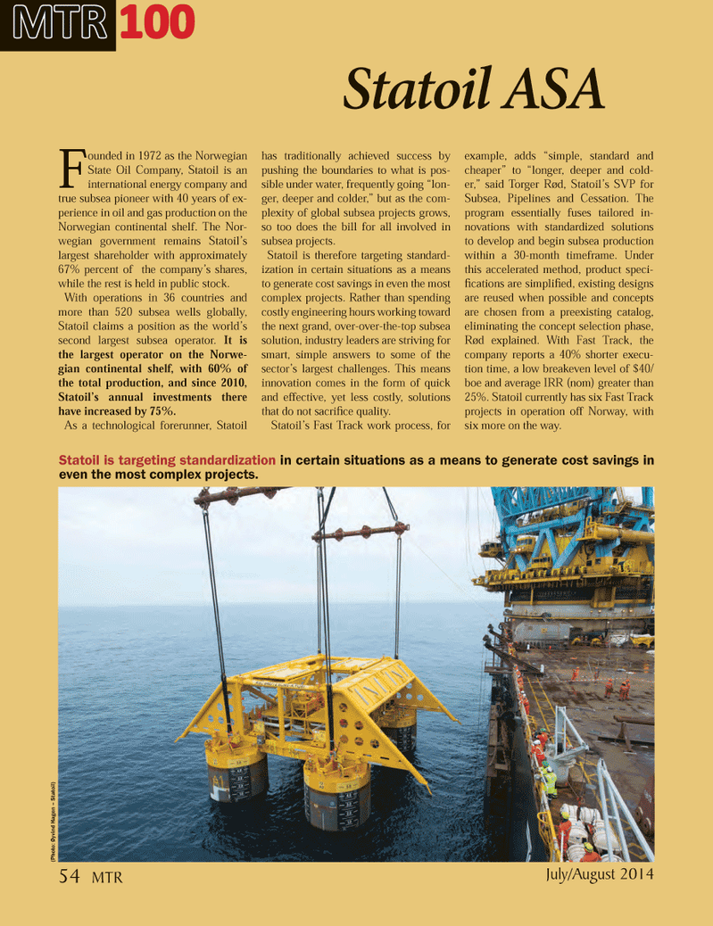 Marine Technology Magazine, page 54,  Jul 2014