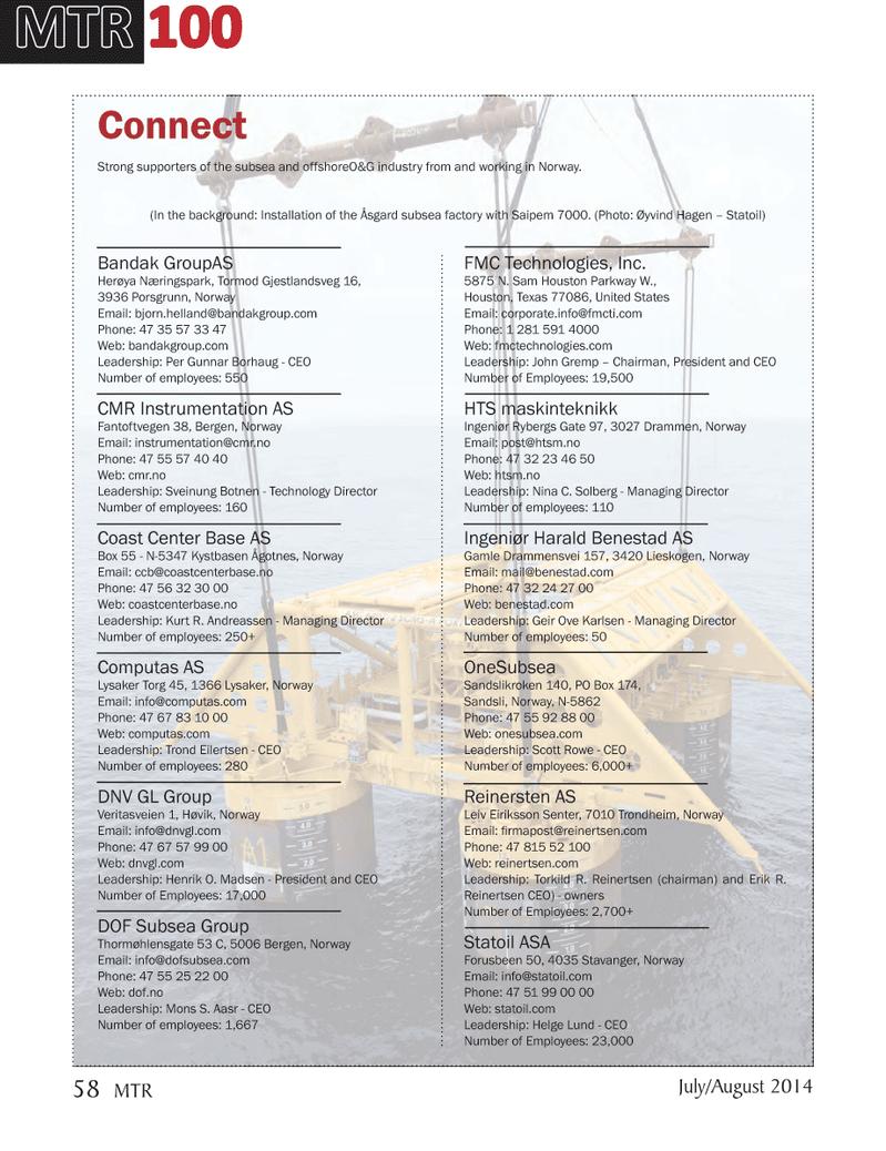 Marine Technology Magazine, page 58,  Jul 2014