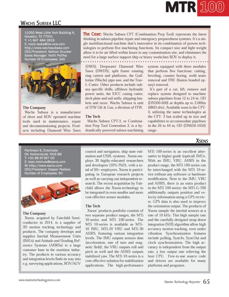 Marine Technology Magazine, page 65,  Jul 2014