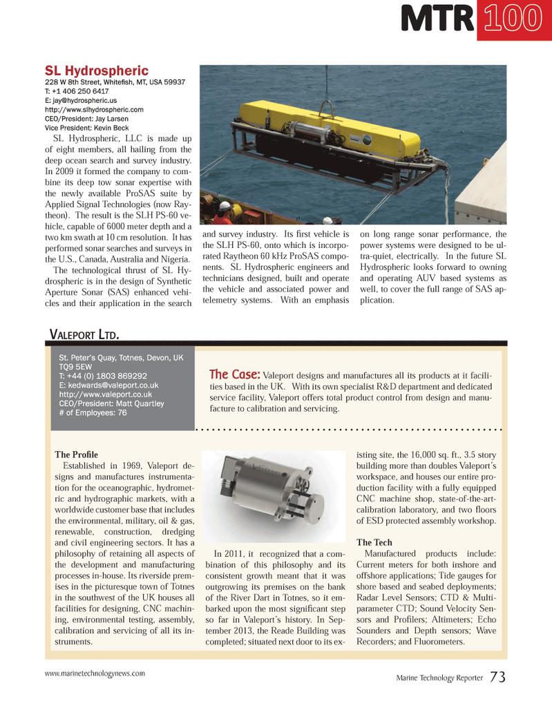 Marine Technology Magazine July 2014, 73 page