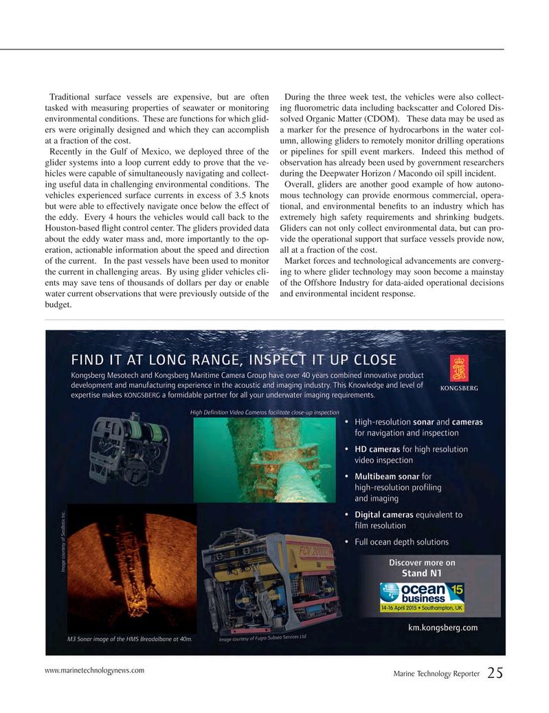 Marine Technology Magazine, page 25,  Mar 2015