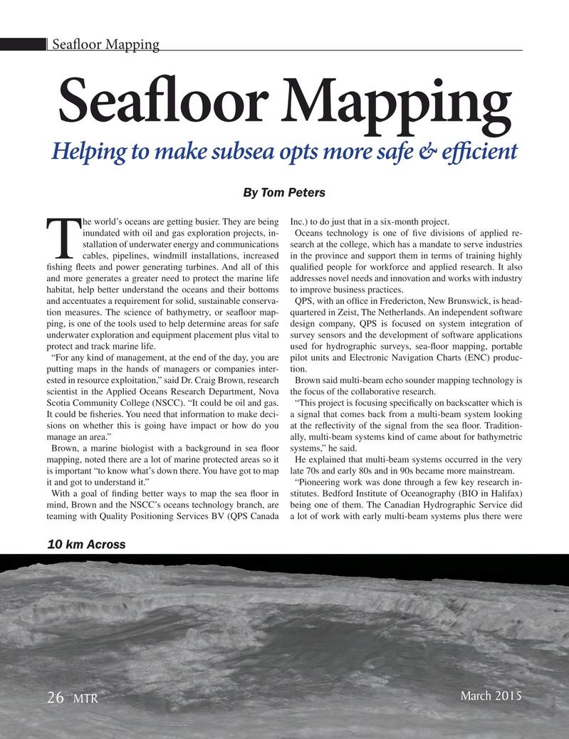 Marine Technology Magazine, page 26,  Mar 2015