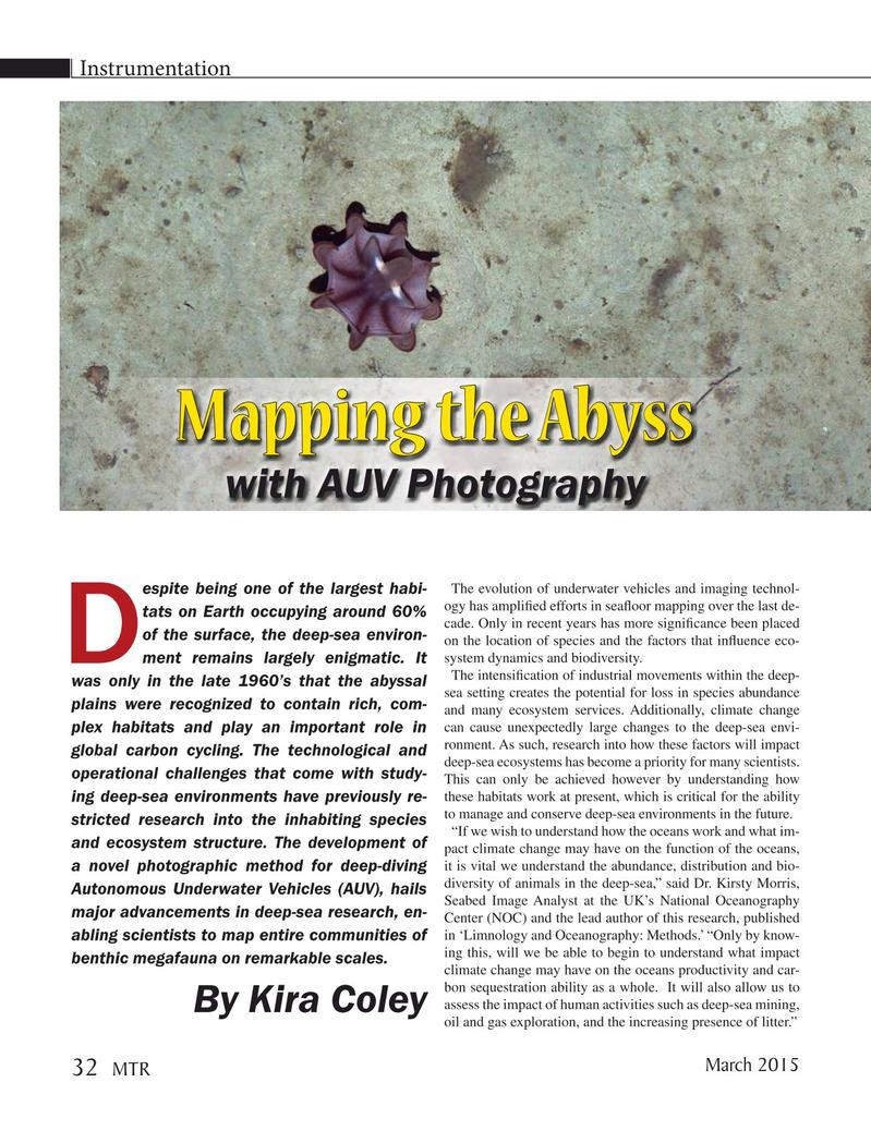 Marine Technology Magazine, page 32,  Mar 2015
