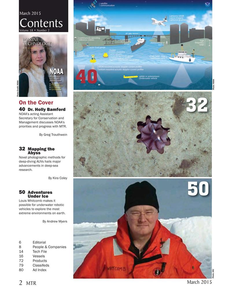 Marine Technology Magazine, page 2,  Mar 2015
