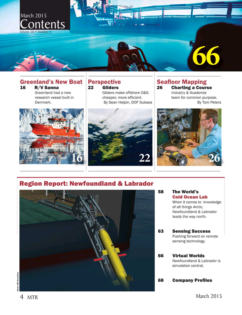 Marine Technology Magazine, page 4,  Mar 2015