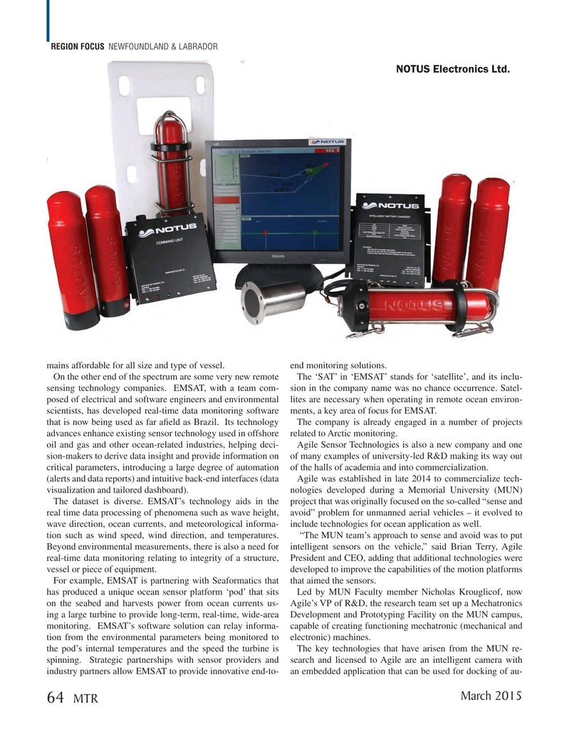 Marine Technology Magazine, page 64,  Mar 2015