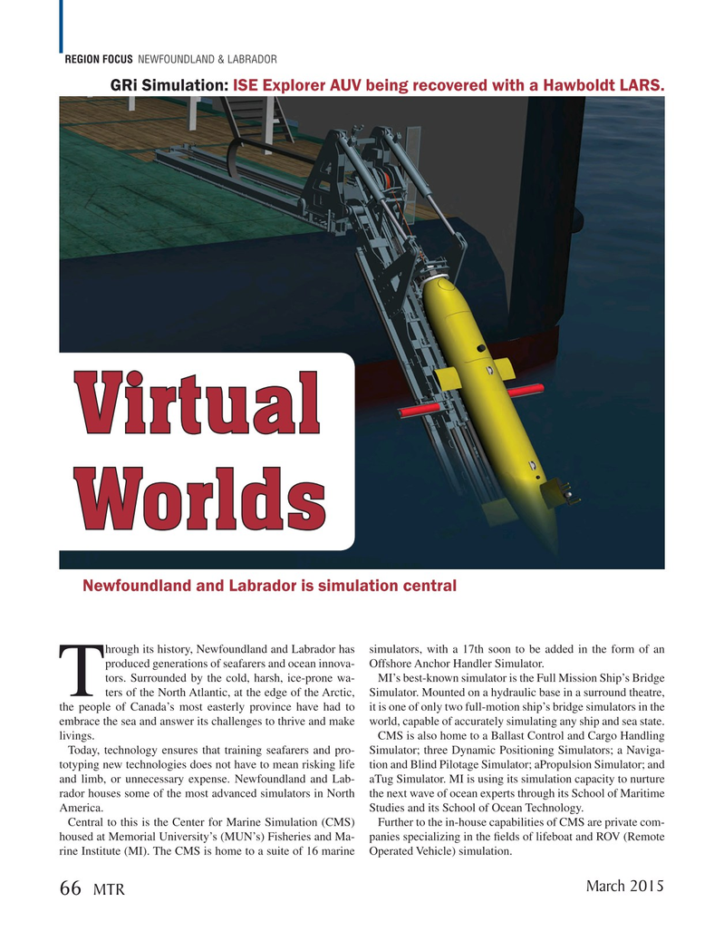 Marine Technology Magazine, page 66,  Mar 2015