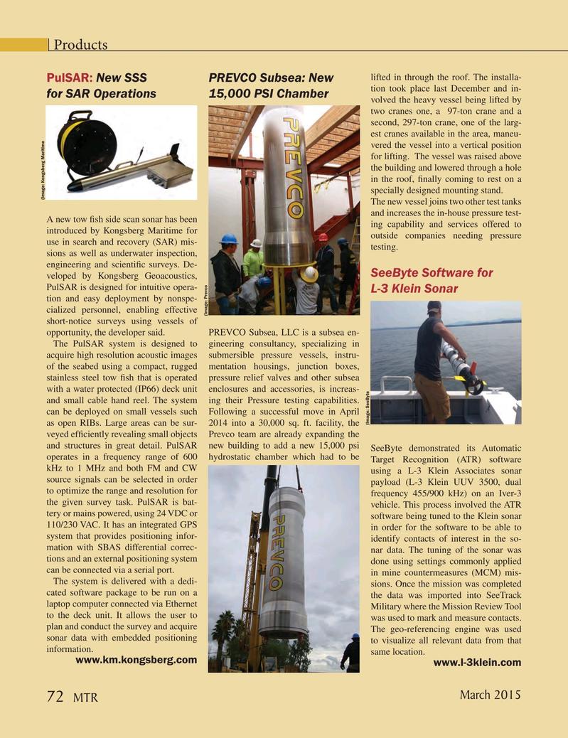 Marine Technology Magazine, page 72,  Mar 2015