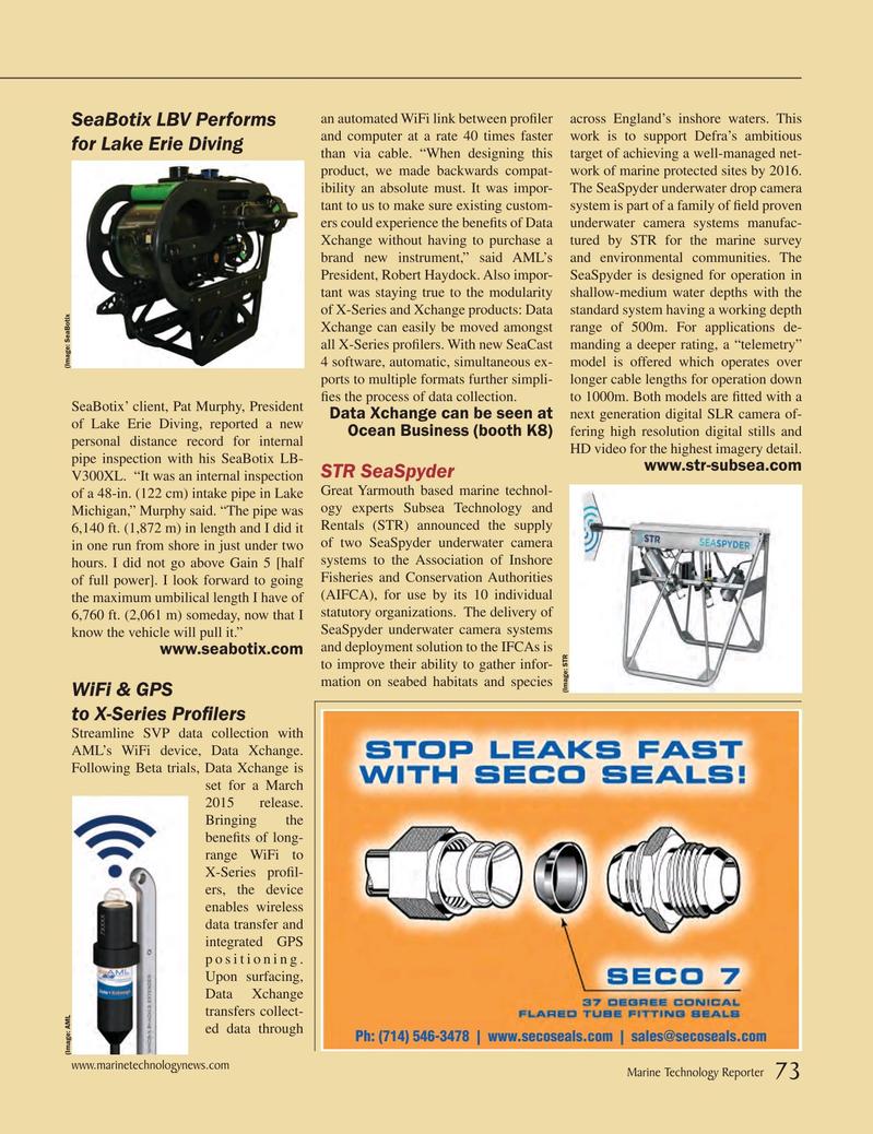 Marine Technology Magazine, page 73,  Mar 2015