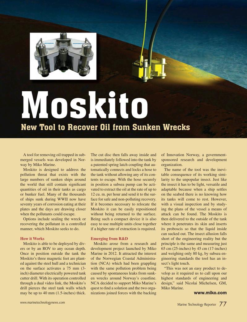 Marine Technology Magazine, page 77,  Mar 2015