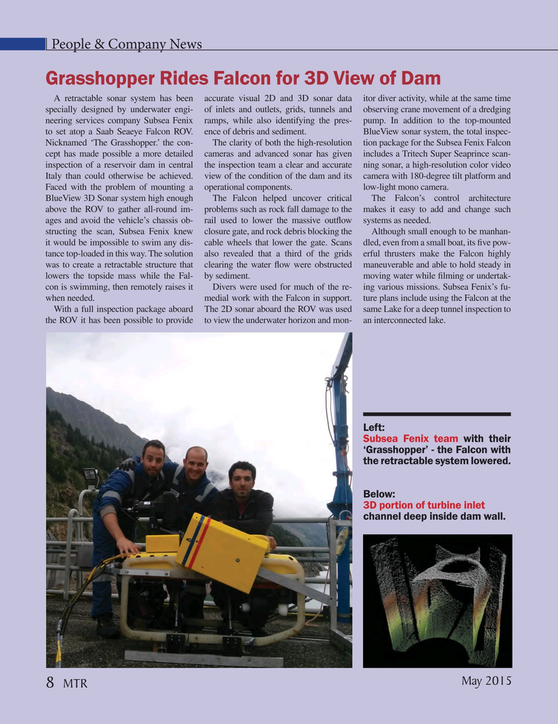 Marine Technology Magazine, page 8,  May 2015