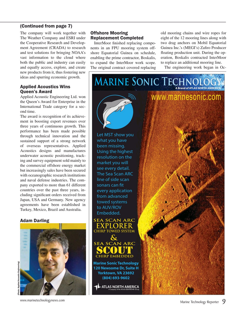 Marine Technology Magazine, page 9,  May 2015