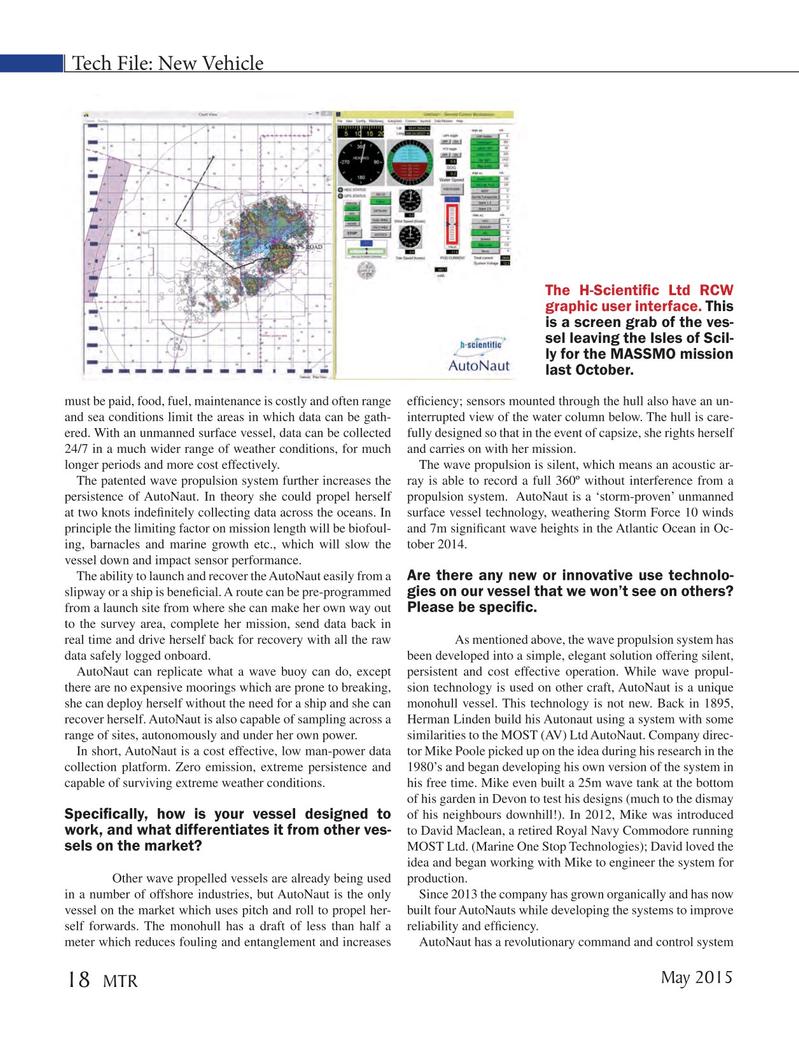 Marine Technology Magazine, page 18,  May 2015