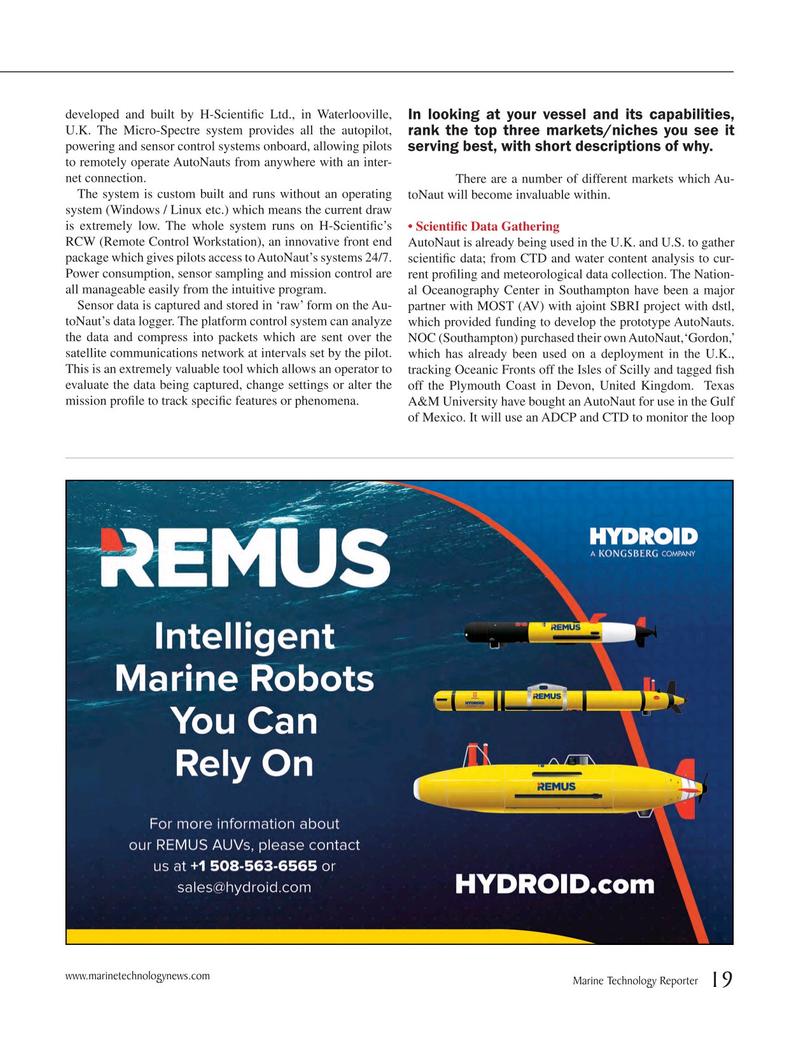 Marine Technology Magazine, page 19,  May 2015