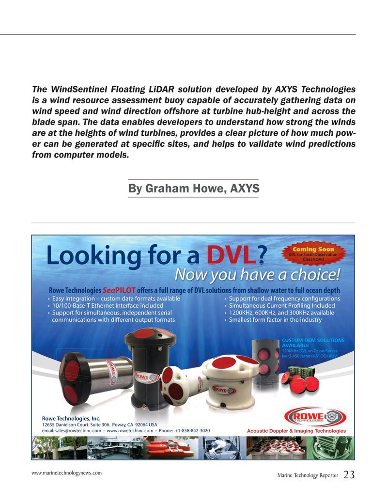 Marine Technology Magazine, page 23,  May 2015