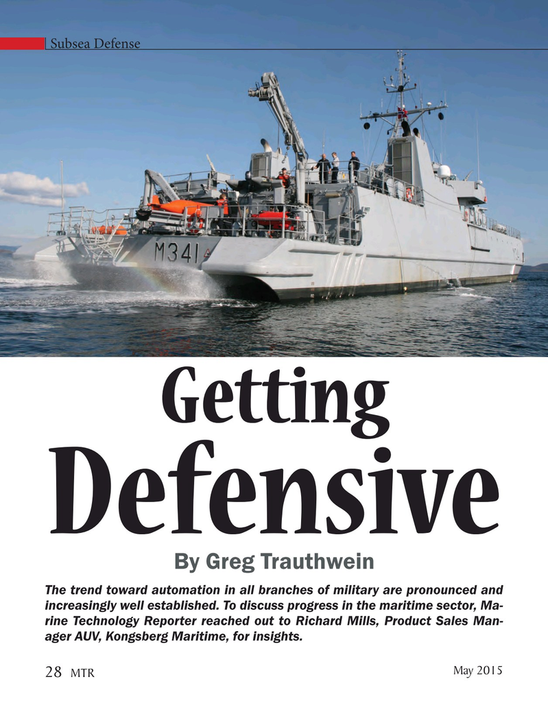Marine Technology Magazine, page 28,  May 2015