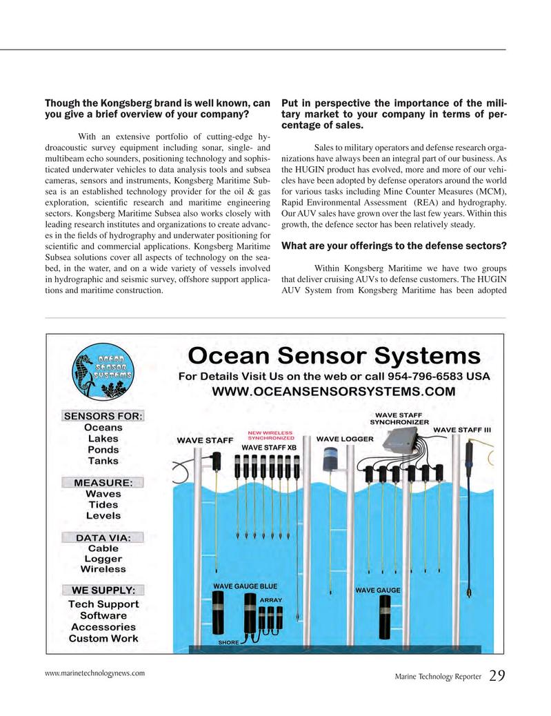 Marine Technology Magazine, page 29,  May 2015
