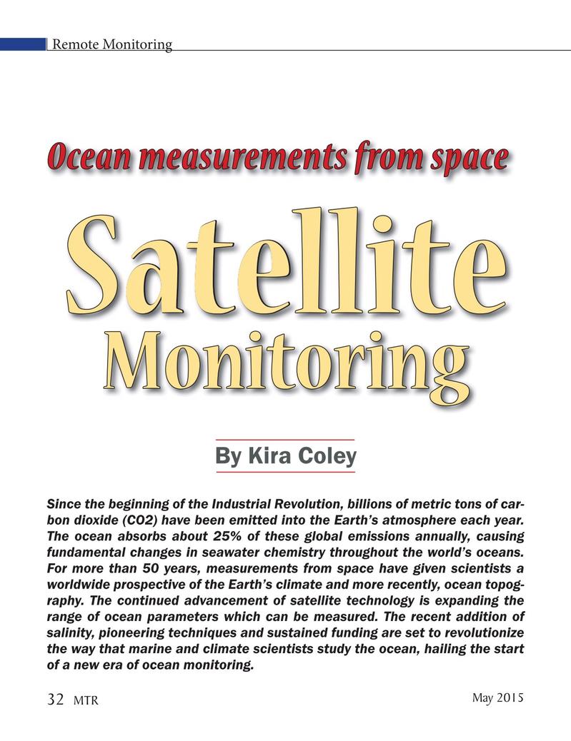 Marine Technology Magazine, page 32,  May 2015