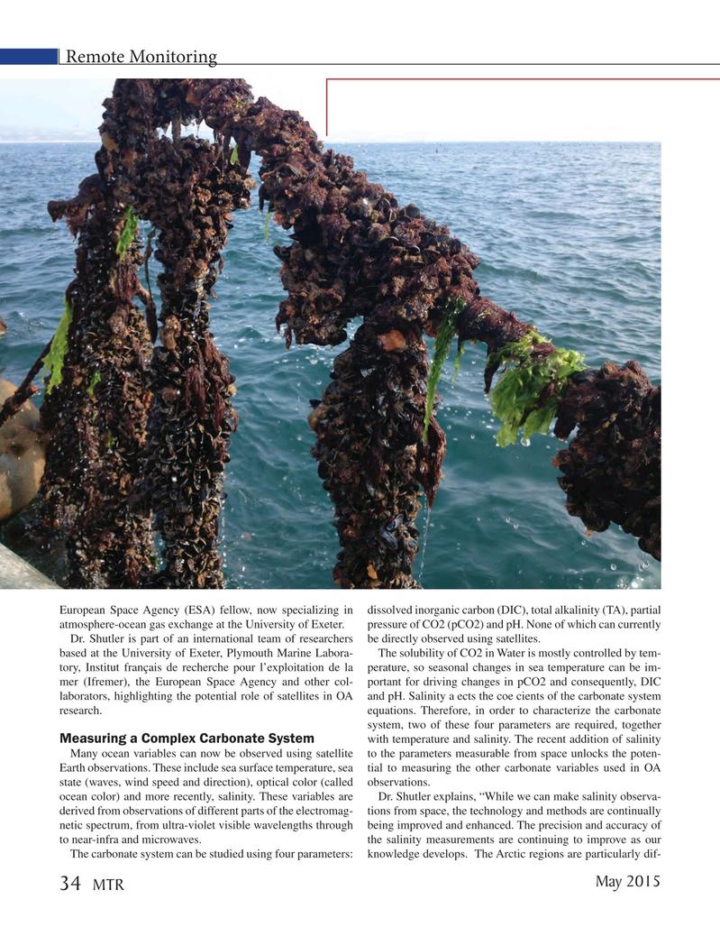 Marine Technology Magazine, page 34,  May 2015