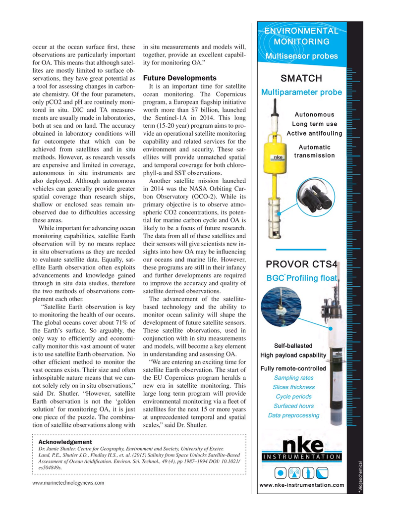 Marine Technology Magazine, page 37,  May 2015