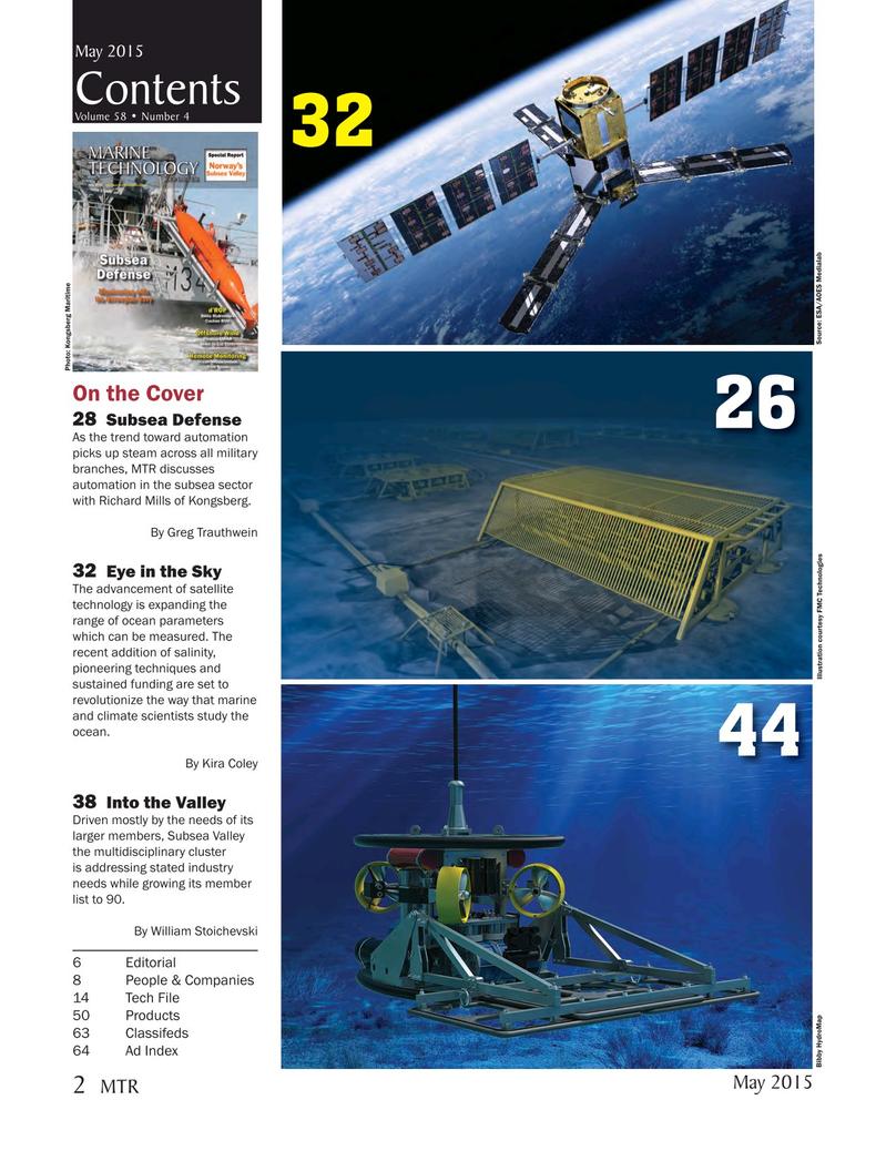 Marine Technology Magazine, page 2,  May 2015