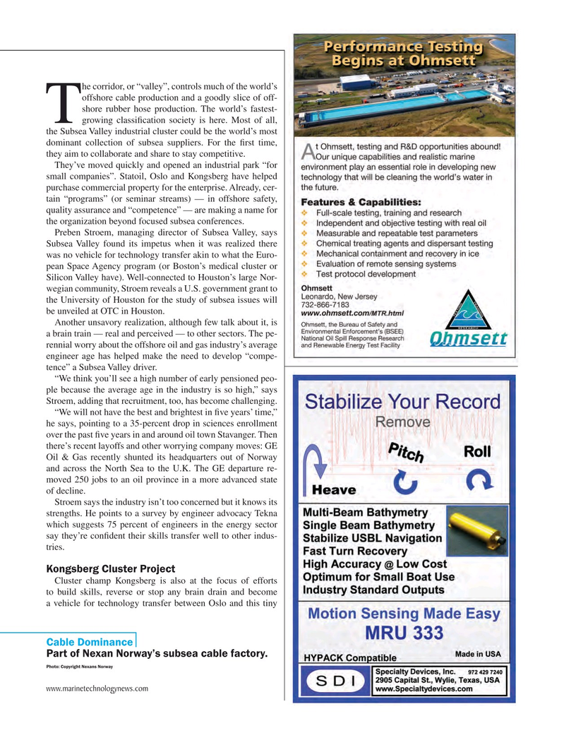 Marine Technology Magazine, page 41,  May 2015