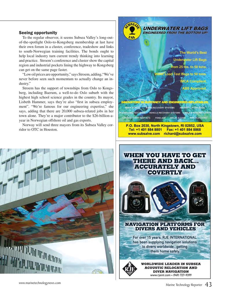 Marine Technology Magazine, page 43,  May 2015