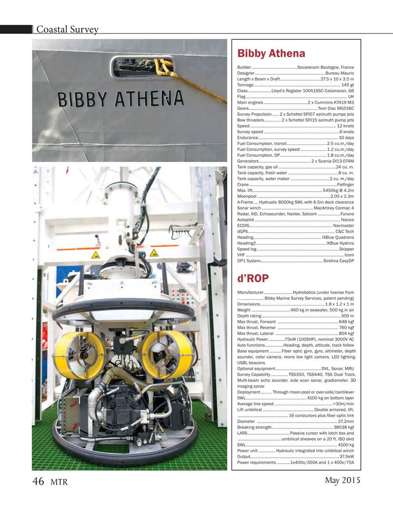 Marine Technology Magazine, page 46,  May 2015
