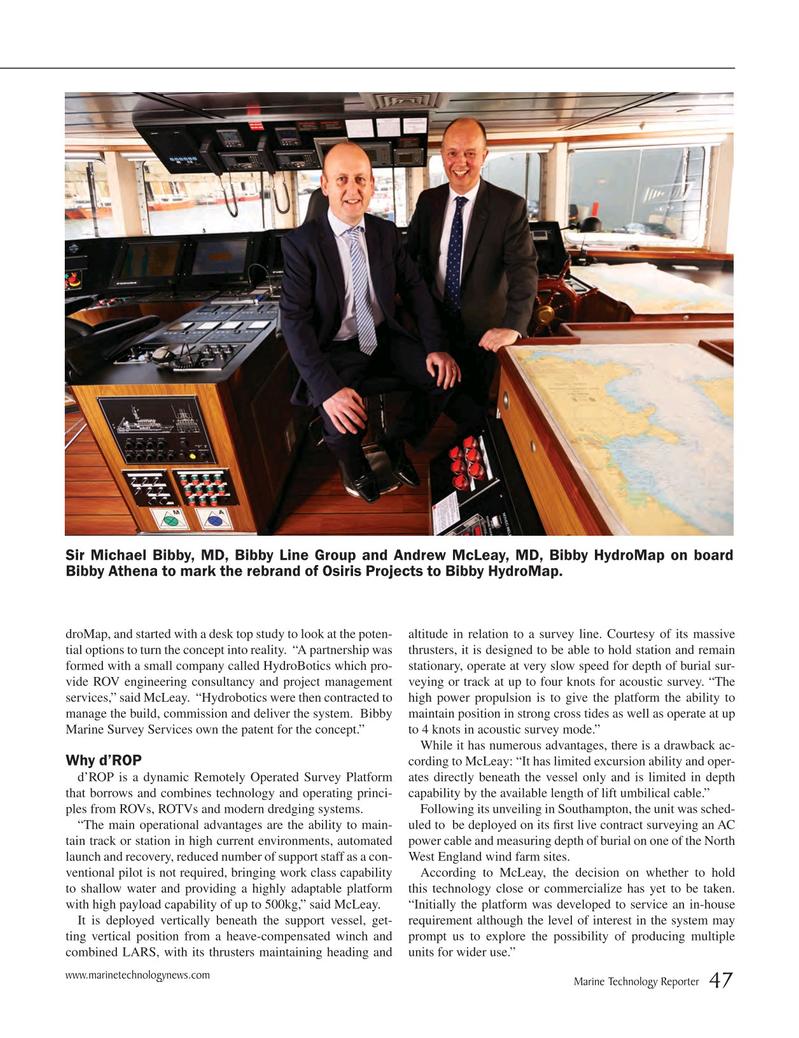 Marine Technology Magazine, page 47,  May 2015