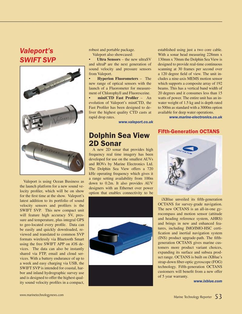 Marine Technology Magazine, page 53,  May 2015
