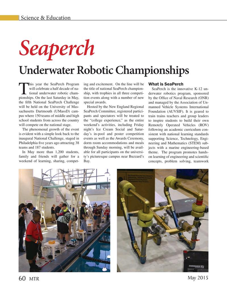 Marine Technology Magazine, page 60,  May 2015