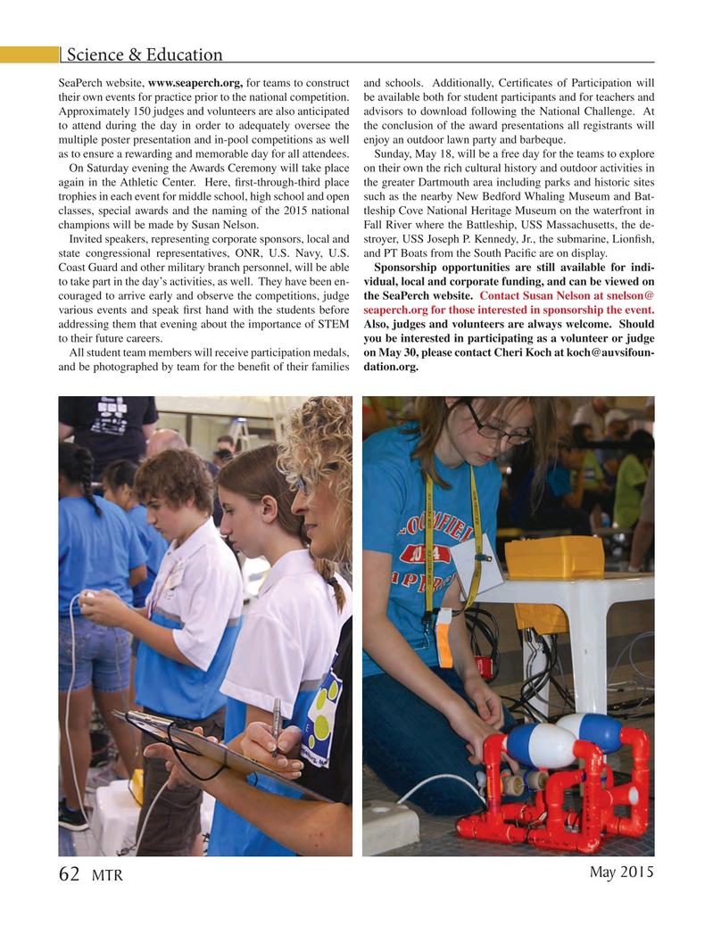 Marine Technology Magazine, page 62,  May 2015